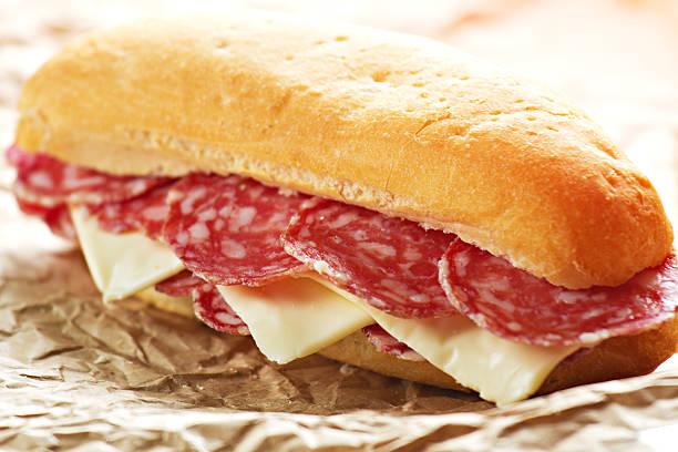 Salami-Sandwich – Foto