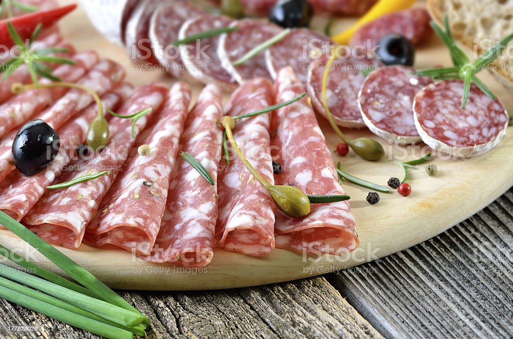 Salami snack royalty-free stock photo