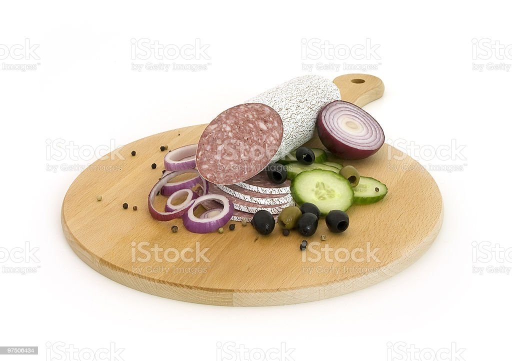 salami with vegetables royalty-free stock photo