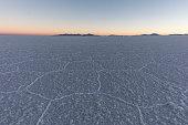 the Salar de Uyuni at Sunset