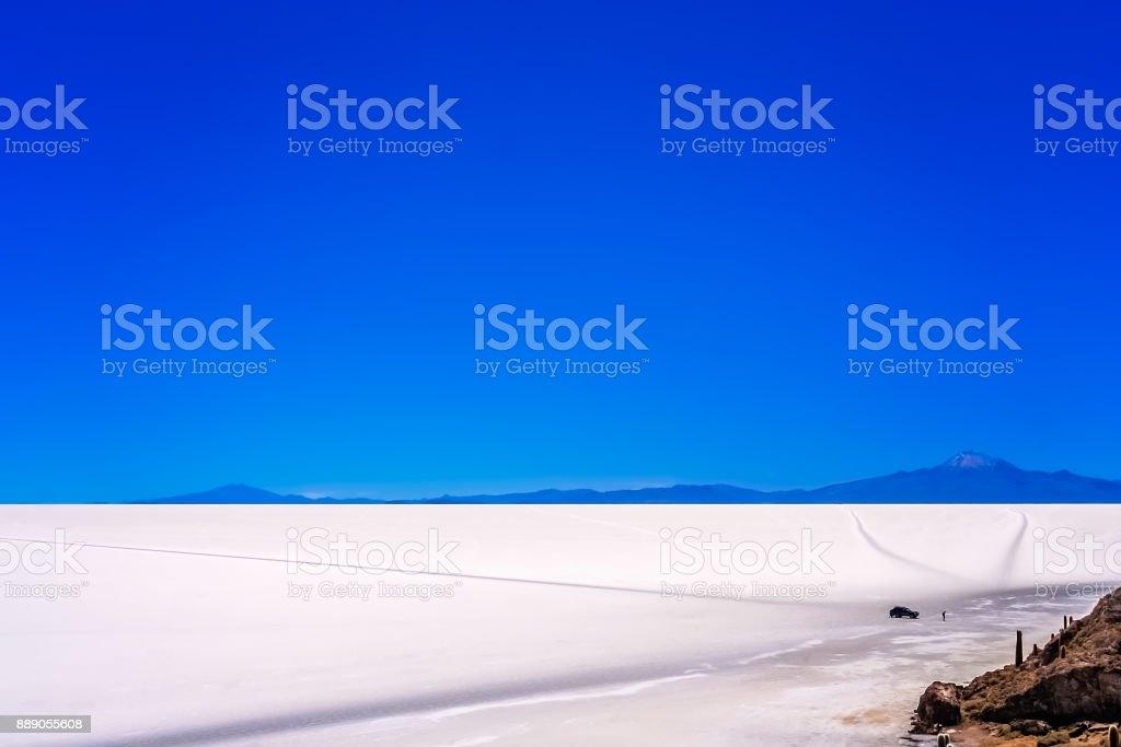 Salar de Uyuni landscape stock photo