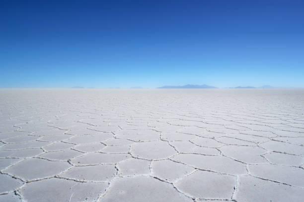Salar de Uyuni - Salt Desert in Bolivia stock photo
