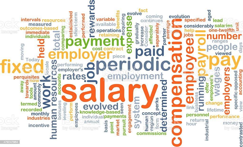 Salary background concept stock photo
