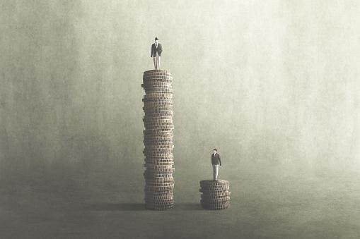 salary comparison, inequality concept