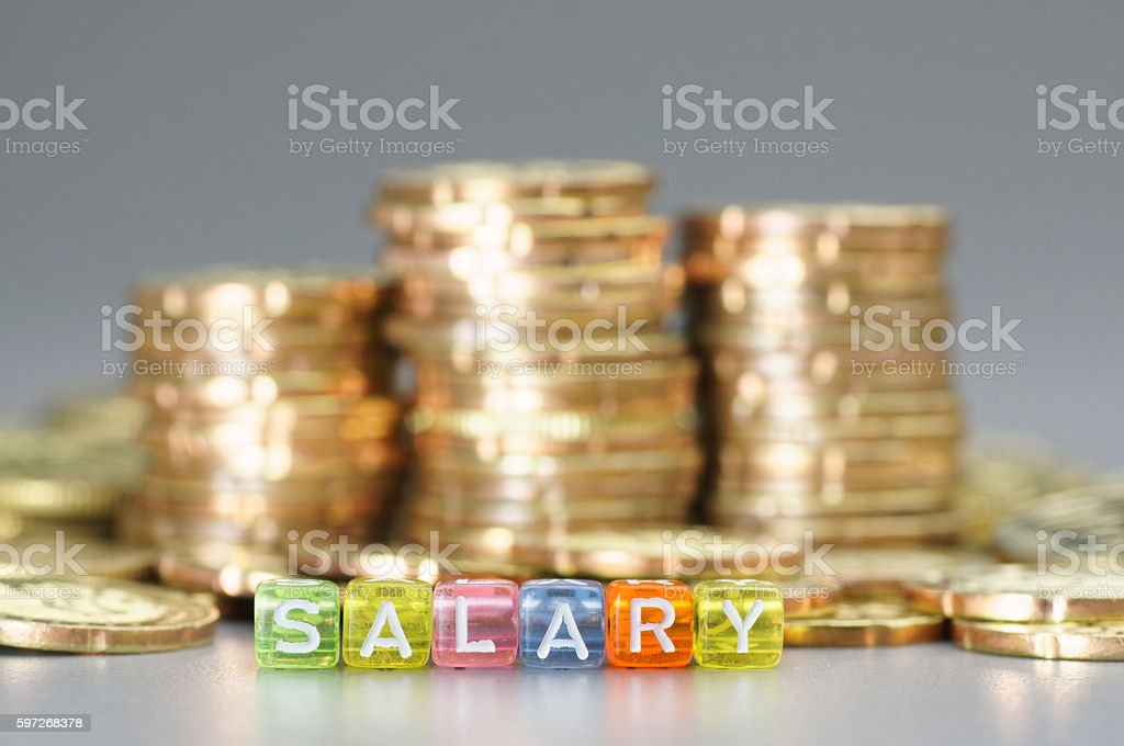 Salary tex on dices royalty-free stock photo