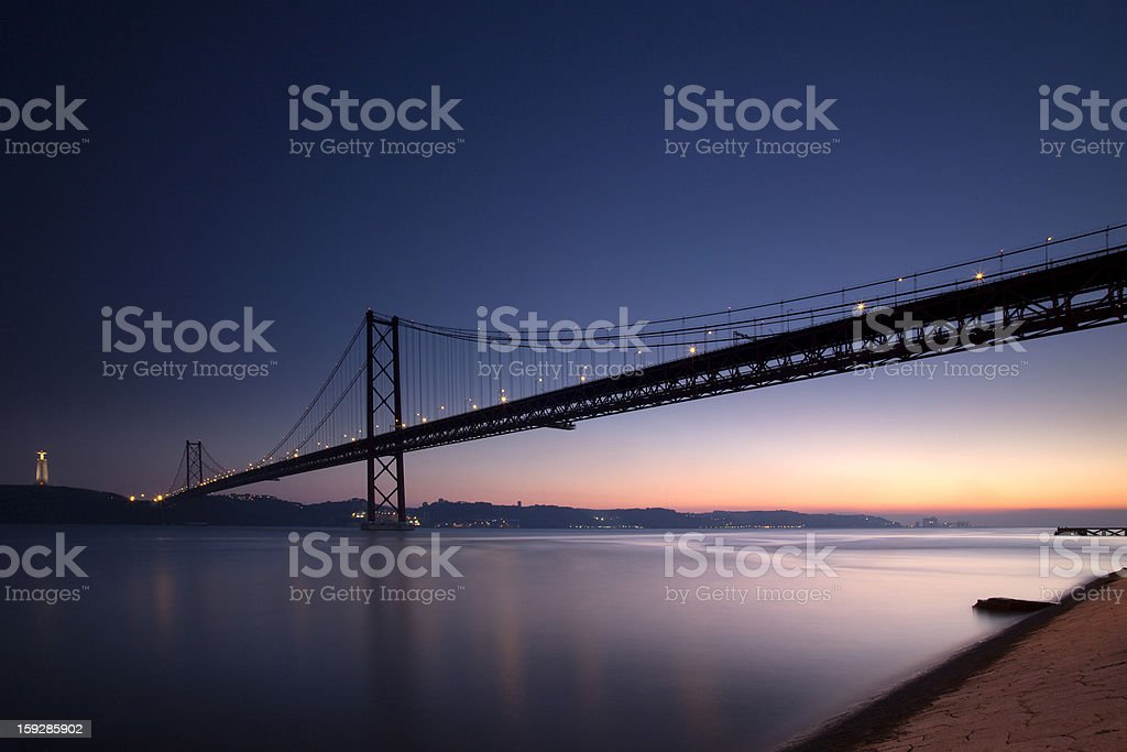 Salazar bridge in Lisbon, Portugal royalty-free stock photo