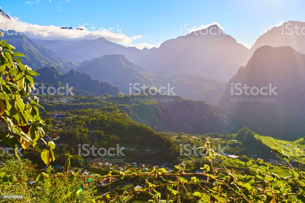 Salazie cirque views - Reunion Island stock photo