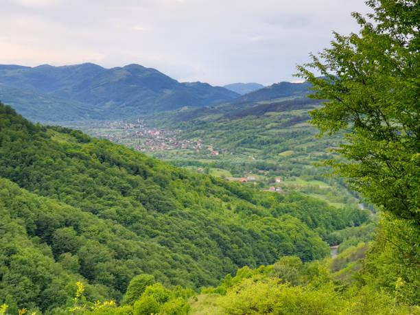 Salciua village in Apuseni mountains, Transylvania stock photo