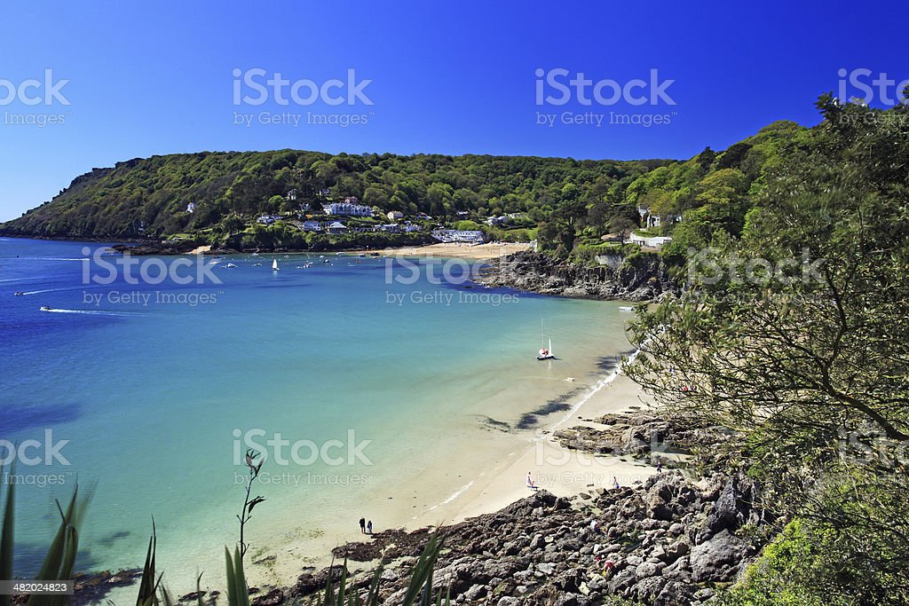 Salcombe Beach Devon England stock photo