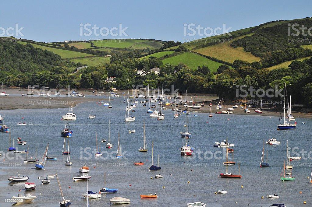 Salcombe Estuary royalty-free stock photo