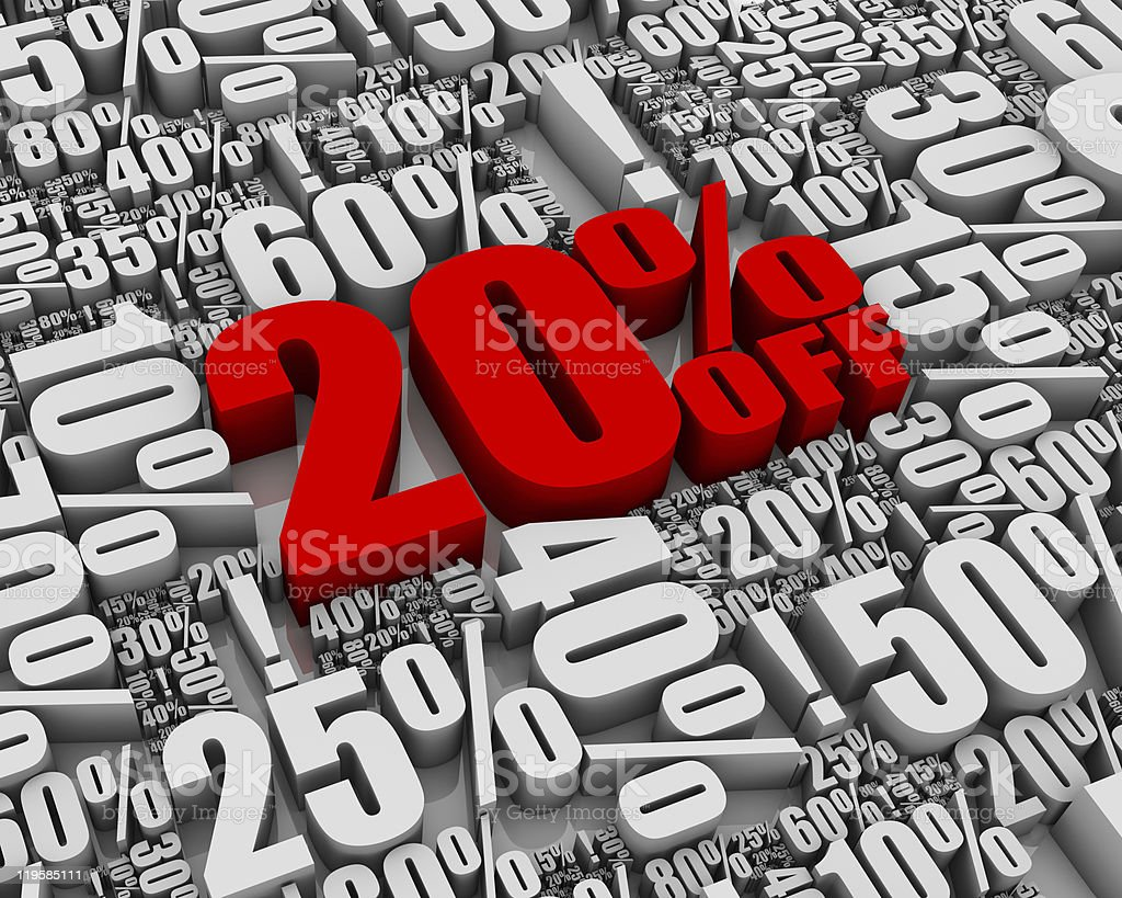 Sale 20% Off! royalty-free stock photo