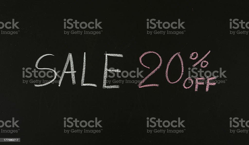 sale 20% off stock photo