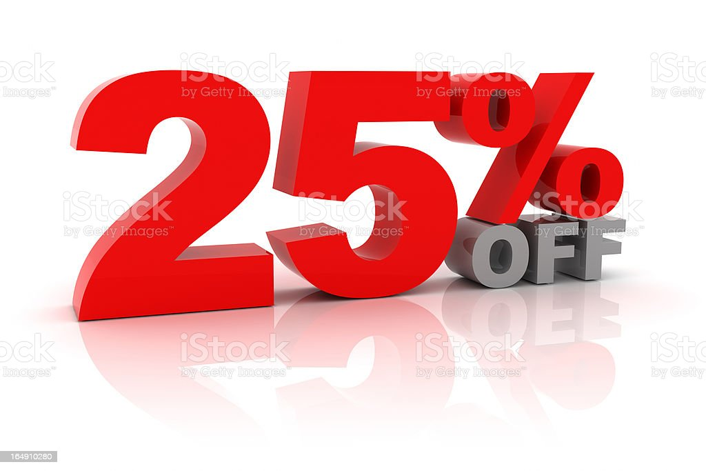 Sale 25 Percent Off royalty-free stock photo