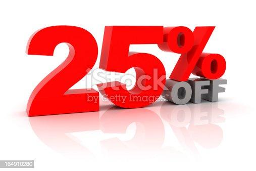 istock Sale 25 Percent Off 164910280