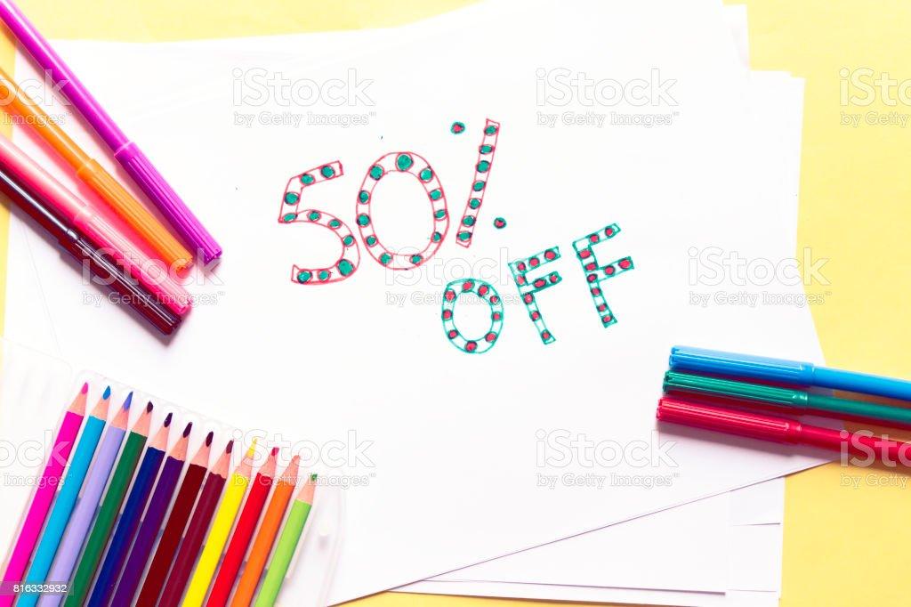sale 50 off stock photo
