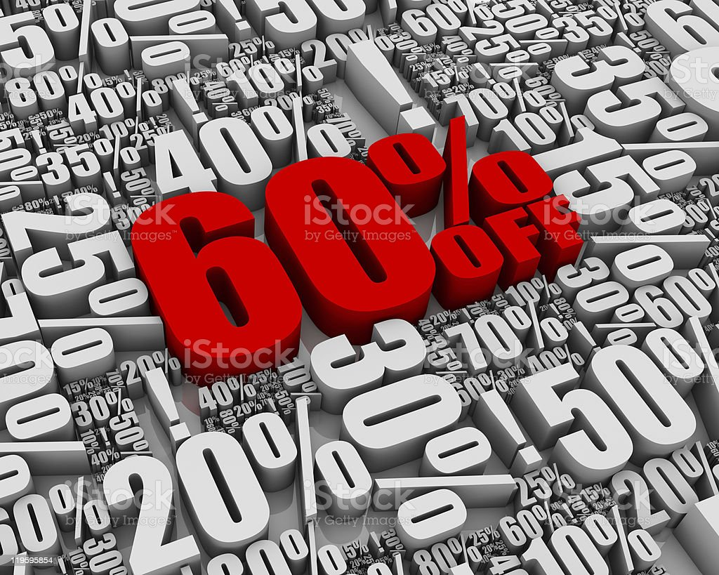 Sale 60% Off! royalty-free stock photo