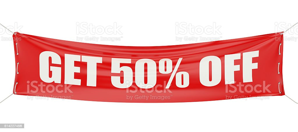 sale and discount 50 concept stock photo