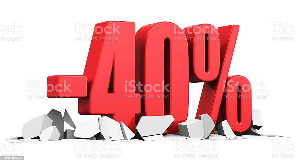 Sale and discount advertisement concept stock photo