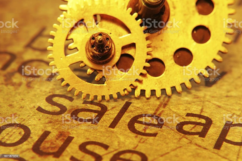 Sale and gears concept royalty-free stock photo