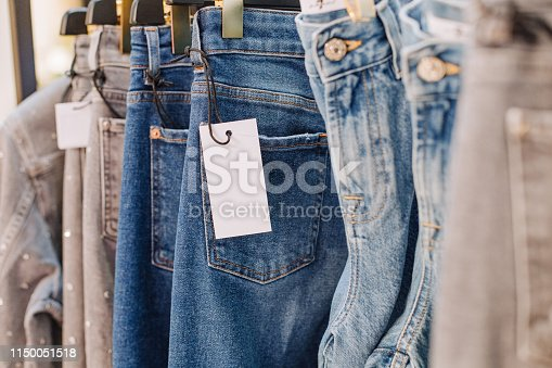 istock sale assortment denim collection stand boutique shop 1150051518