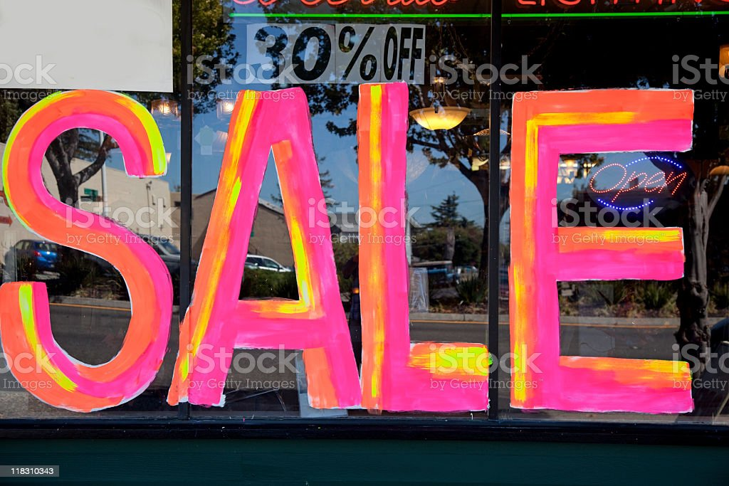 Sale Baby! stock photo