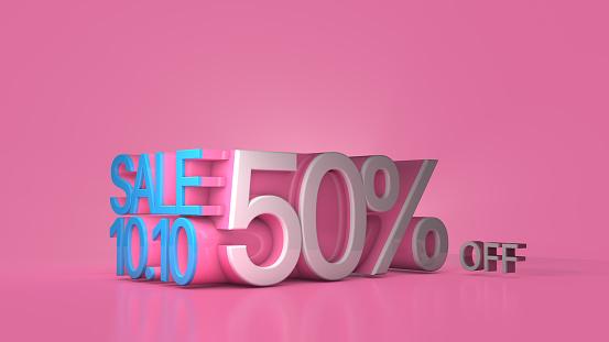 Big Sale Banner, Mega sale, Flash sale, 3D render