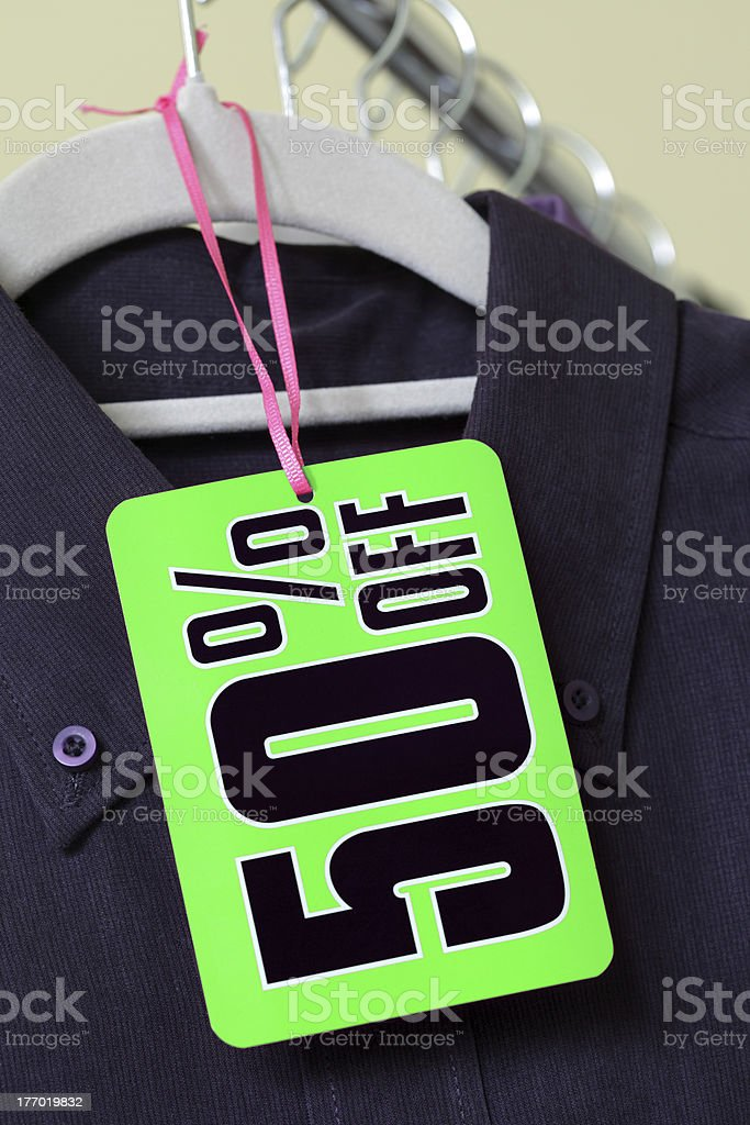 Sale discount tag stock photo