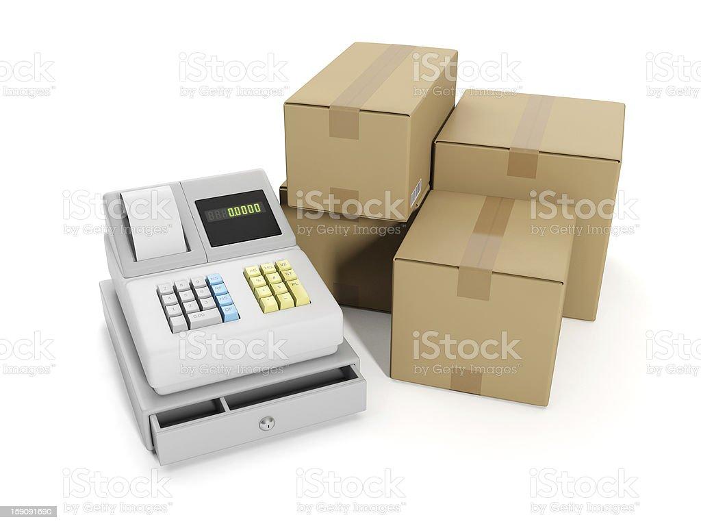 Sale goods storage, warehouse royalty-free stock photo