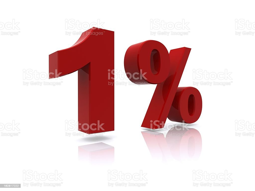 1% sale high resolution rendering stock photo