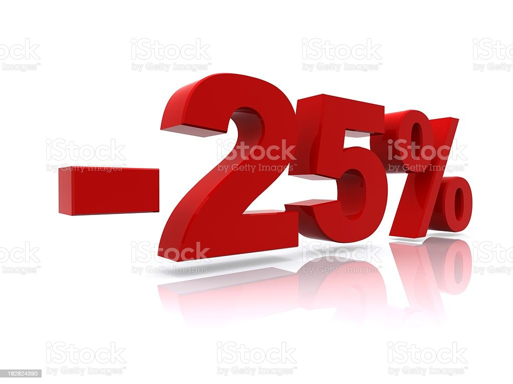 25% sale high resolution rendering royalty-free stock photo