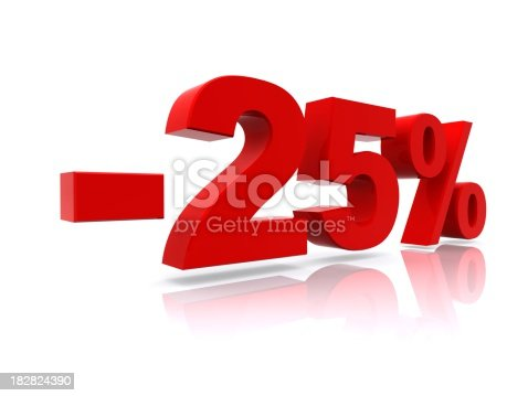 istock 25% sale high resolution rendering 182824390