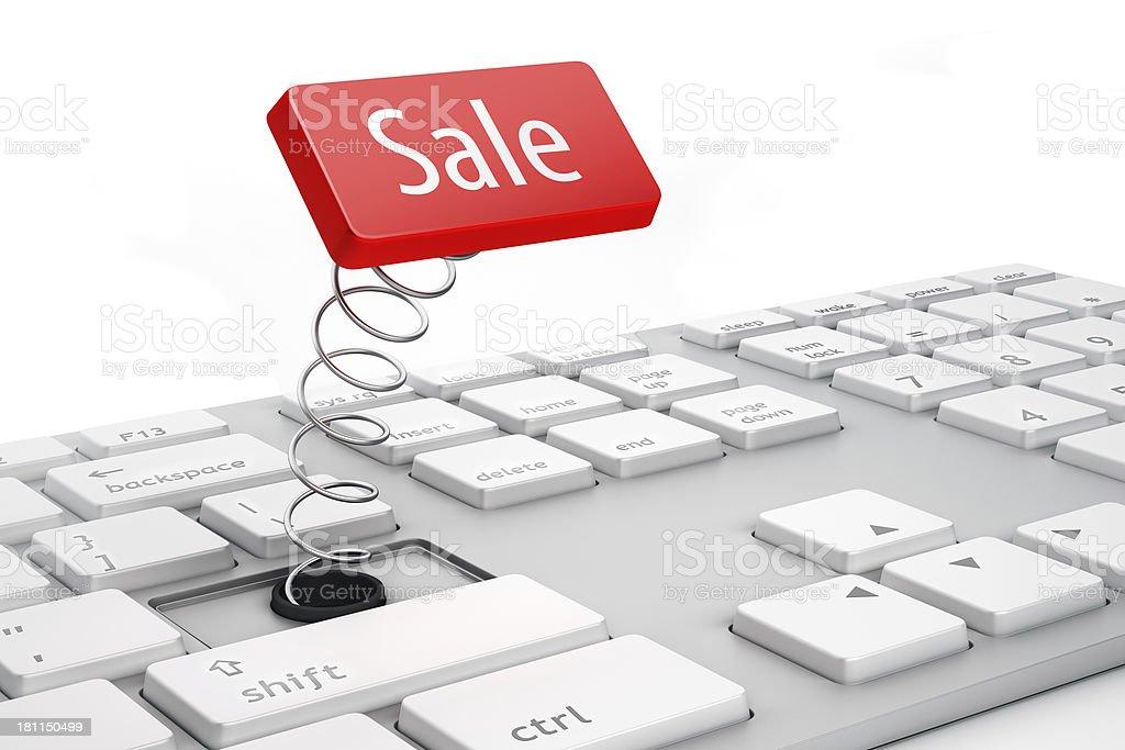 Sale key royalty-free stock photo