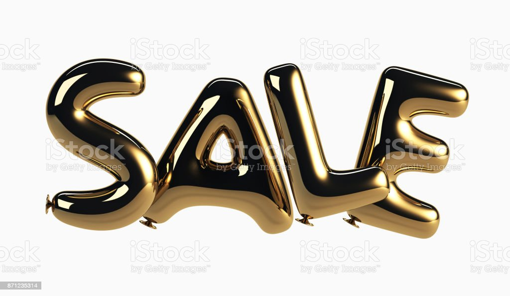 Sale made of Glossy Helium Balloons stock photo