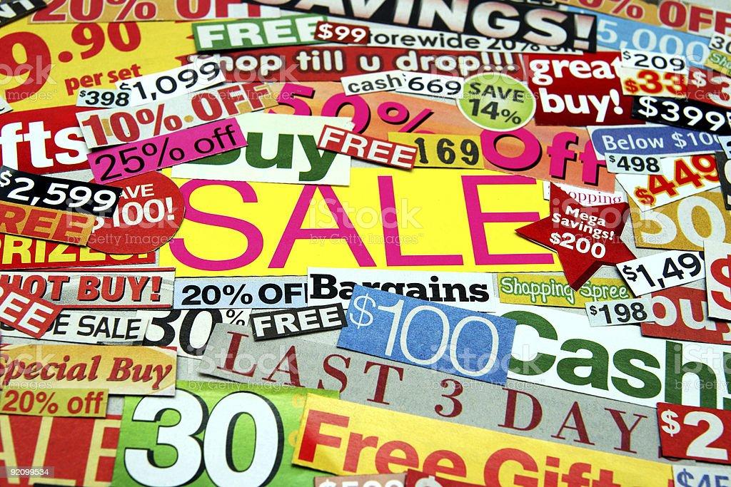 Sale Montage royalty-free stock photo