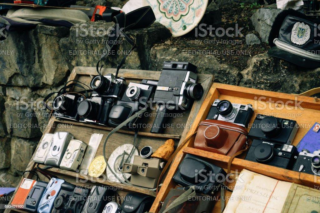 Sale Of Antiques At The Flea Market In Lviv Ukraine Stock Photo ...