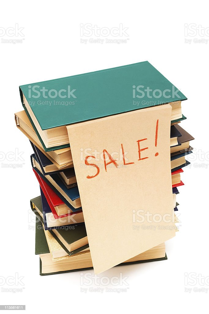 sale of books stock photo