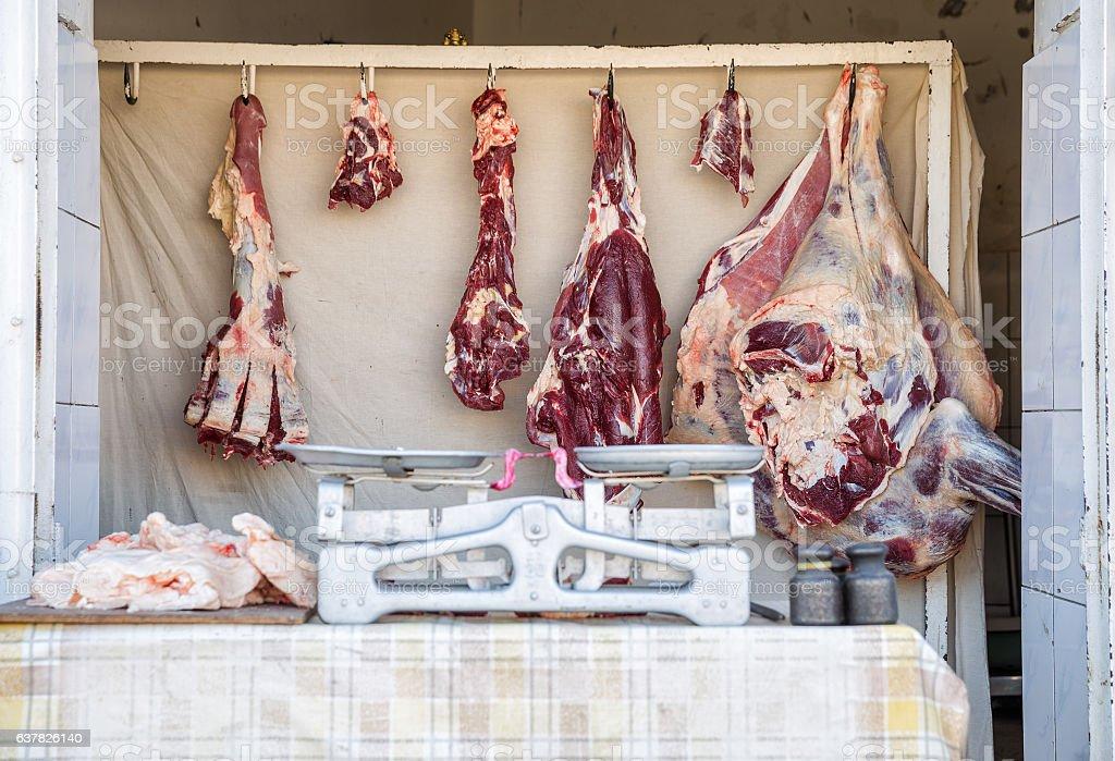 Sale of meat – Foto