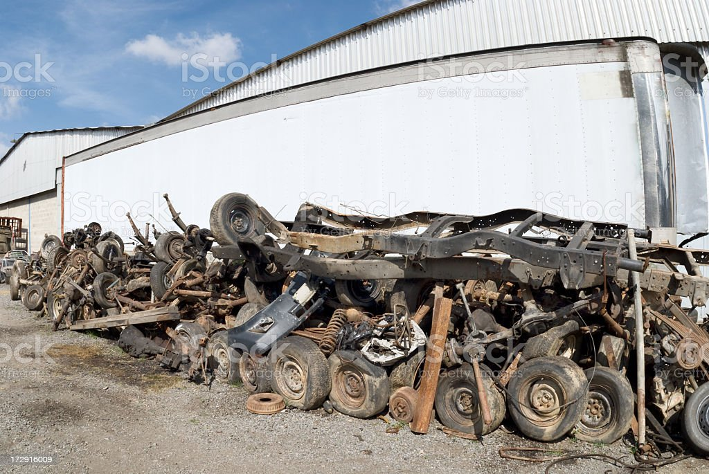 Sale of used spare parts royalty-free stock photo
