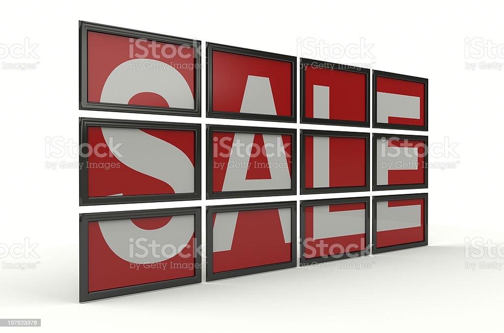 Sale On Screens stock photo