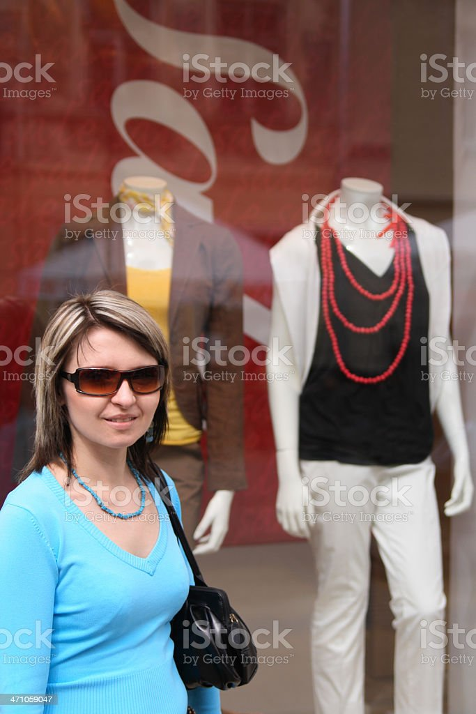 Sale on window display royalty-free stock photo