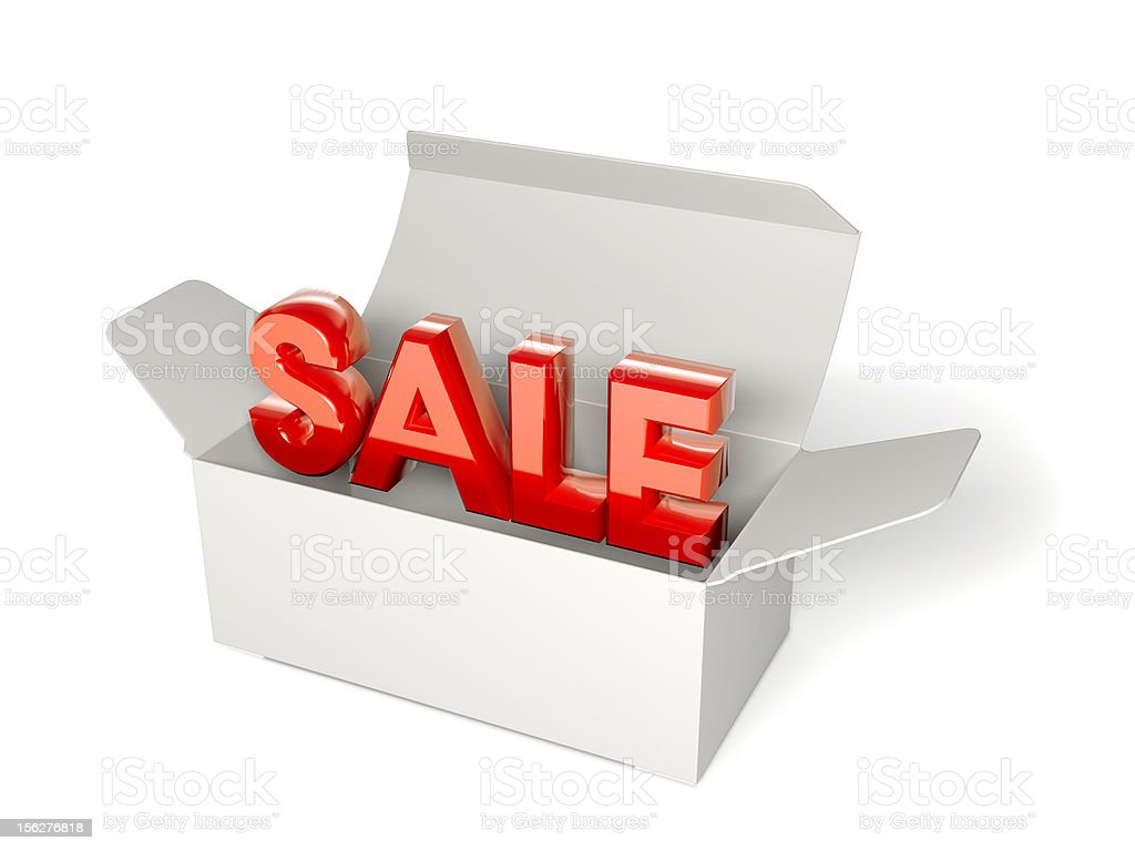 Sale package isolated on white royalty-free stock photo