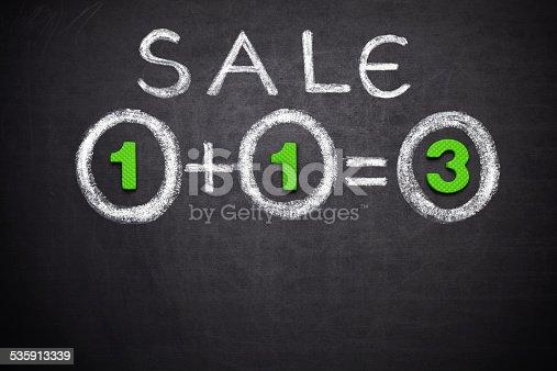 istock 1+1=3 Sale 535913339