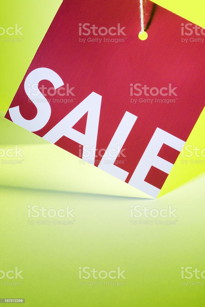 Sale Price Tag Label, Retail Shopping Sign Marketing a Discount royalty-free stock photo