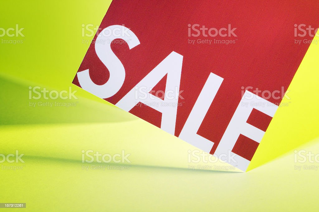 Sale Price Tag Merchandise Sign Label for Retail Marketing royalty-free stock photo