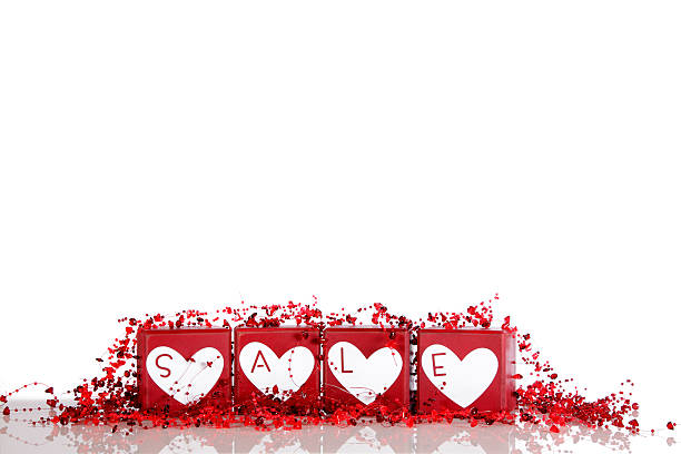 Sale  Promotion For Valentines Day stock photo