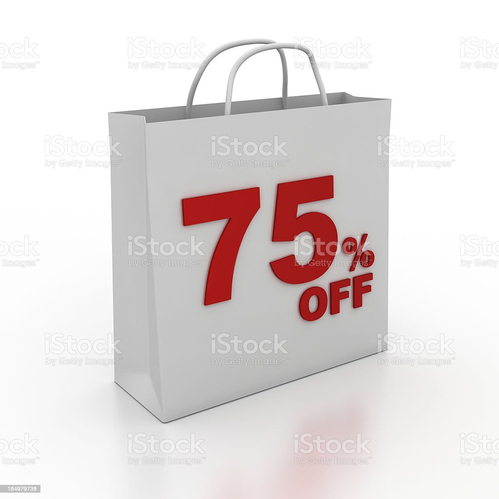 Sale Shopping Bag Series royalty-free stock photo