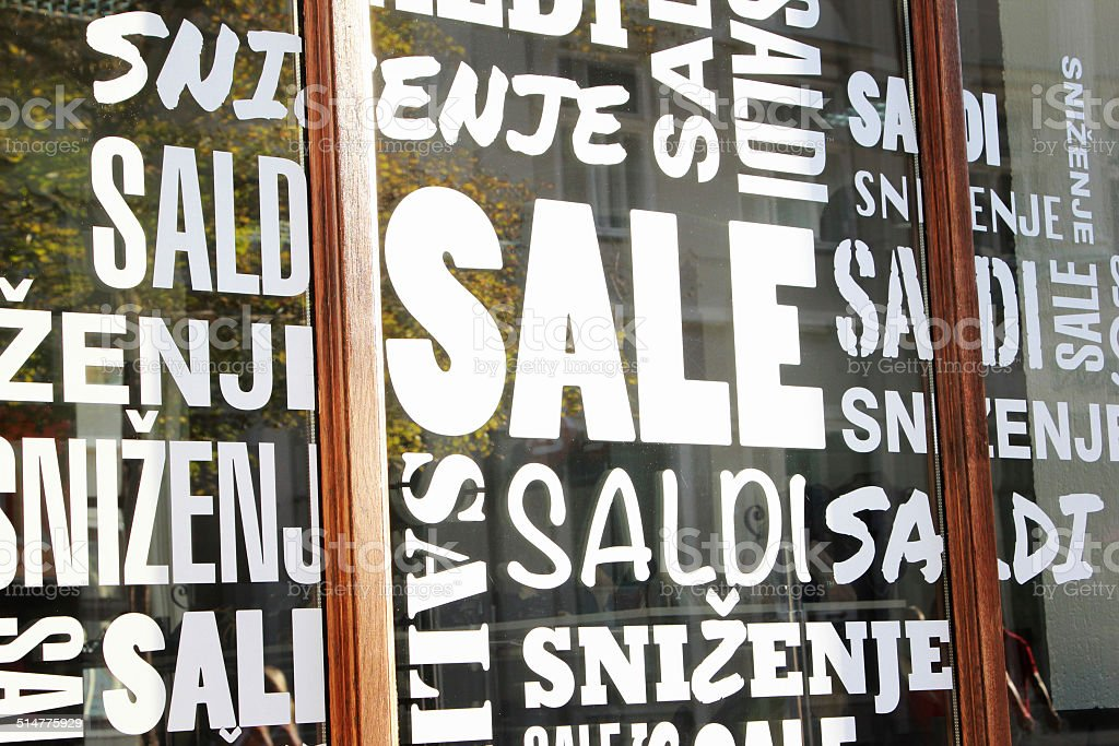 Sale signs stock photo