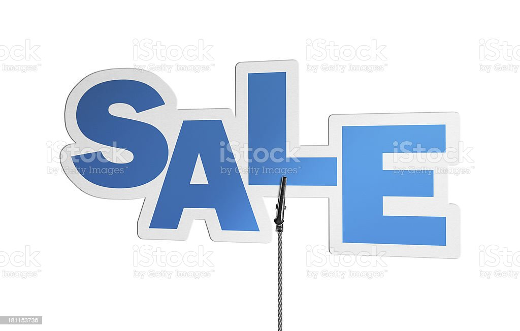 Sale, Speech Bubble in Wire Clam royalty-free stock photo