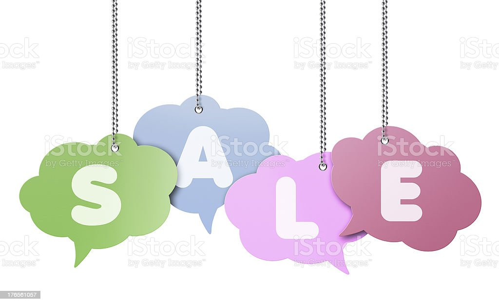 Sale, Speech Bubble royalty-free stock photo