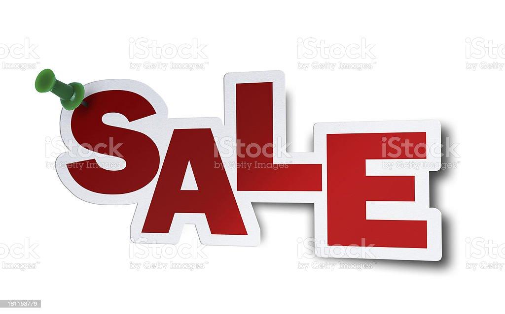 Sale, Speech Bubble royalty-free stock photo